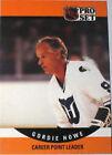 1990 Pro Set Gordie Howe #654 Hockey Card