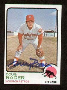 Doug-Rader-76-signed-autograph-auto-1973-Topps-Baseball-Trading-Card