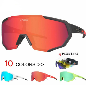 Polarized 5 Lens Cycling Glasses Eyewear Sunglasses MTB Mountain Bicycle  Goggles  online store
