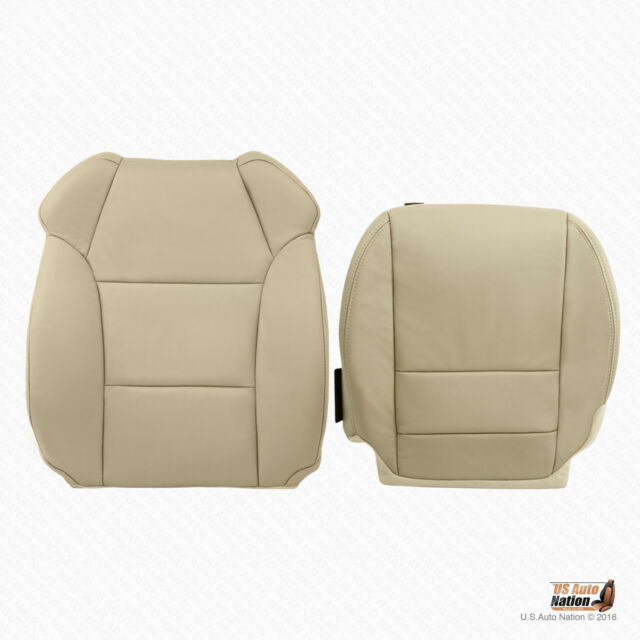 Front Driver Bottom And Top Leather Seat Cover In Tan Fits