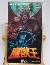 Majuu Ou Majyuuou Beast King King of Demons Oh ORIGINAL Game Super Famicom