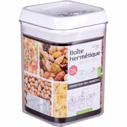0.8L Air Tight Food Container Vacuum Seal Lock Lid Box Dry Cereal Pasta Rice