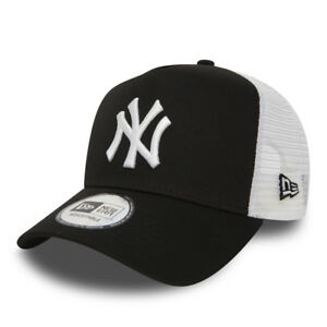 NEW ERA MEN BASEBALL CAP.MLB NEW YORK YANKEES CLEAN A FRAME MESH ... 4d1fcf081c