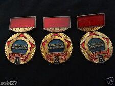 MONGOLIAN ORDER MEDAL FOR  SHOCKWORKER  OF THE SOCIALIST LABOR 1, 2, 3