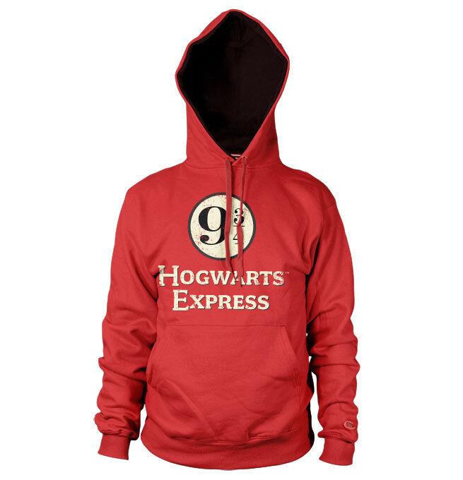 Officially Licensed Hogwarts Express Platform 9-3/4 Hoodie S-XXL Größes