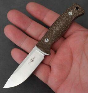 New TwoSun Knives EDC Micro M390 Fixed Blade Kydex Belt Sheath G10 Knife TS247