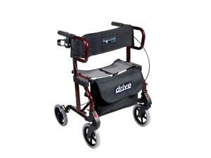 Drive-Diamond-Deluxe-Rollator-Gehhilfe-Faltrollstuhl-Transportrollstuhl-NEU-OVP