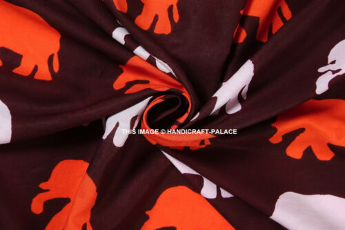 "Decorative Rayon Fabric 43""Wide Indian Maroon Material Craft Sewing By 10 Metre"