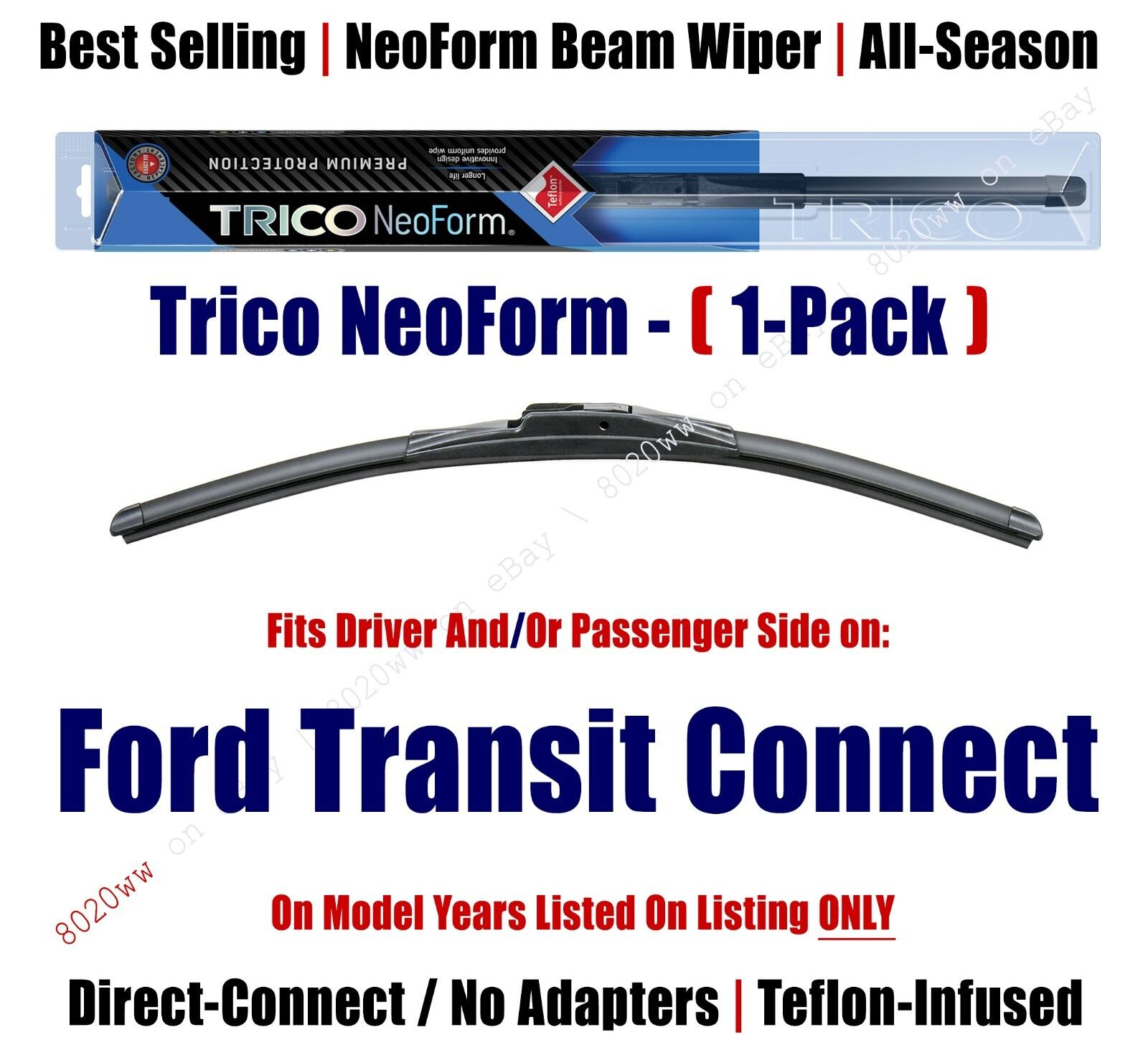 SET OF 2 18 Front Left and Right- BOSCH DIRECT CONNECT WIPER BLADES size 20