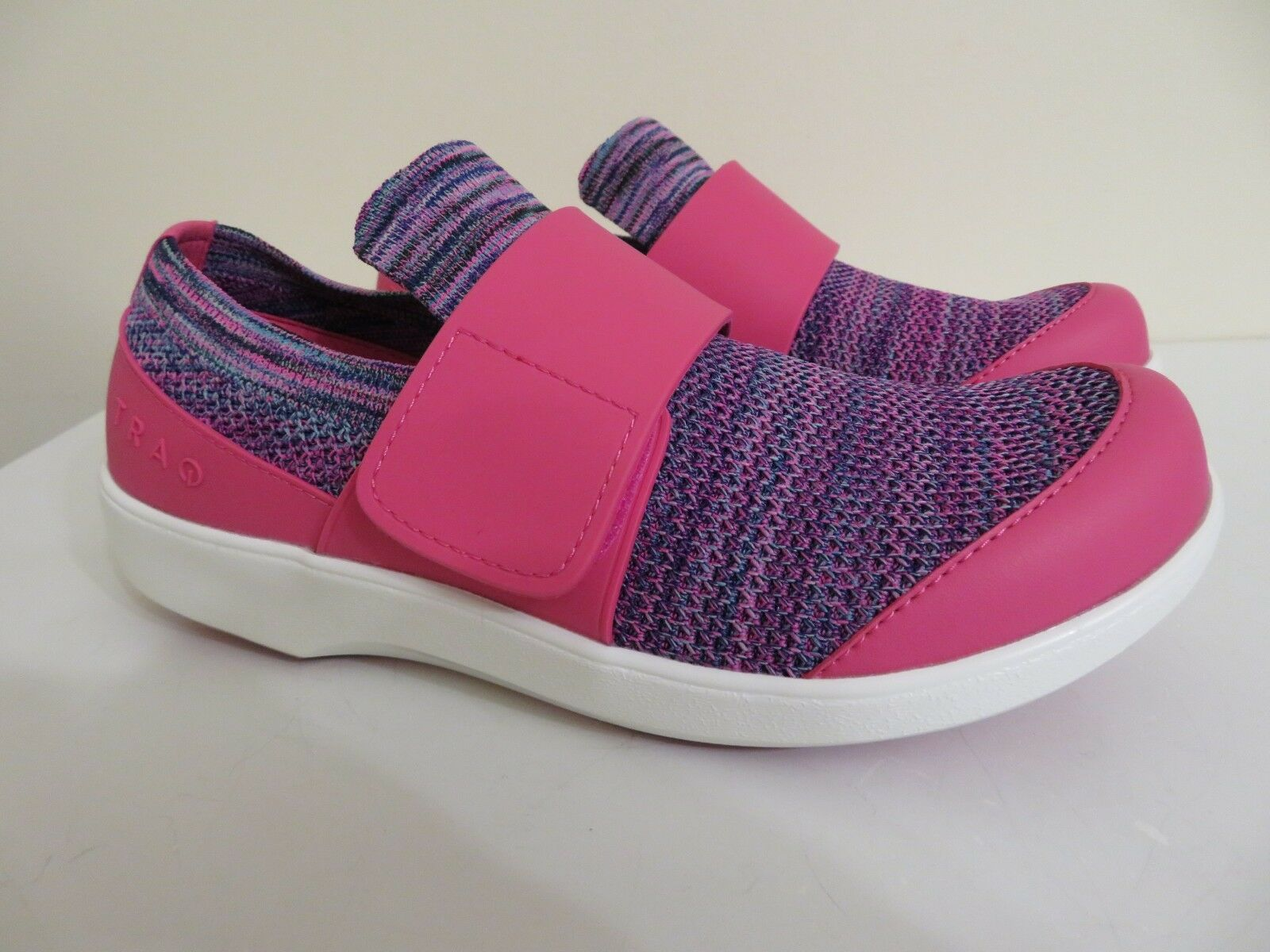 ALEGRIA TRAQ SLIP ON Schuhe SNEAKERS W W W CROSS STRAP QWIK PINK 39 FITS US 9 TO 9.5 7c8afe