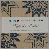 "Nature's Basket Charm Pack Blackbird Designs for Moda 42 5"" Squares 2720PP"