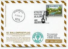 1989 Ballonpost n. 82 Pro Juventute Aerostato D-Ergee V Bregenz Achenkirch