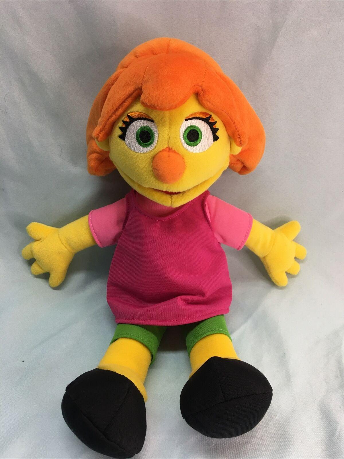 "Gund Sesame Street Julia Plush Muppet Stuffed Toy 14/"" Autistic Character Autism"