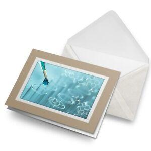 Greetings-Card-Biege-Science-Laboratory-Test-Tubes-Biology-Uni-24162