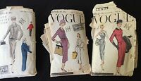 VINTAGE VOGUE Dress SEWING PATTERNS 1950'S Compete Size 14, 9043, 4768, 4573
