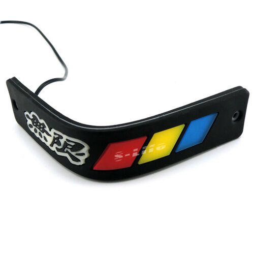 Car Flexible COB Daytime Running Light DRL WUXIAN Gmblem Grille Driving DayLight