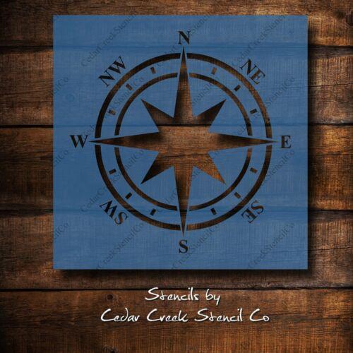 DIY Decor Reusable Stencil Nautical Compass craft stencil Beach Stencil