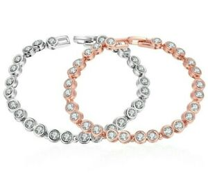 Made-With-Sparkly-Shiny-Swarovski-Crystals-Tennis-Bracelet-7-8-034-ITALY