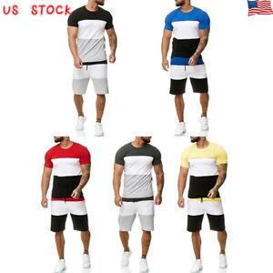 Summer-Men-Summer-TrackSuit-T-Shirt-Sport-Suit-Sets-Tops-Pants-Set-Tennis-Wear