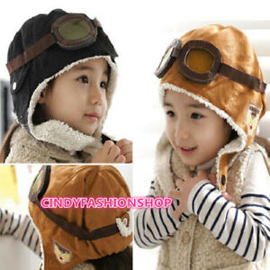 ca4b9f856b86 HOT Sale Winter Baby Toddler Boy Girl Kids Pilot Aviator Warm Cap ...