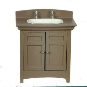 Dolls House Espresso Vanity Sink Unit
