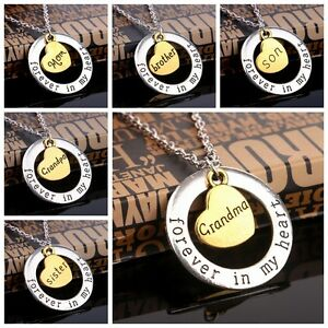 Family-Forever-In-My-Heart-Circle-Love-Member-Heart-Grandma-Mom-Pendant-Necklace