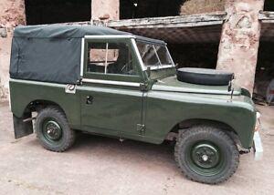 Land Rover 88 Series 2 3 Full Hood Black Canvas No Side Windows