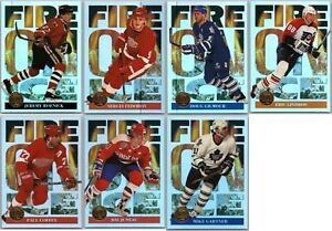 1994-95-LEAF-FIRE-ON-ICE-INSERT-CARDS-FINISH-SET-PICK-YOUR-SINGLES-Rare-Mint