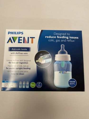 SCF404//34 Phillips Avent Anti colic Bottle with AirFree vent 9 oz Blue