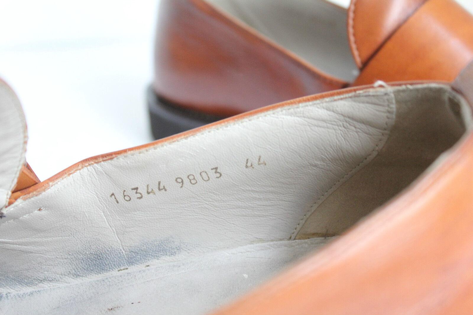 HUGO BOSS Luxus Elegante Herrenschuhe Eu:44-44,5 Slipper Echtleder Braun Eu:44-44,5 Herrenschuhe c56628