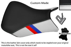 WHITE-amp-BLACK-WITH-CUSTOM-M3-STRIPE-FITS-BMW-S-1000-RR-12-13-FRONT-SEAT-COVER