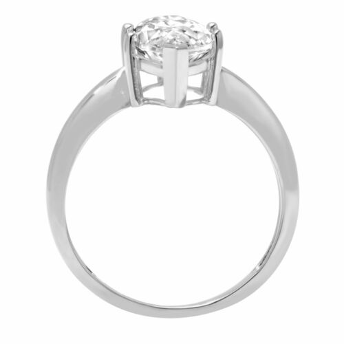 2.50 ct Marquise Cut White Sapphire Wedding Bridal Promise Ring 14k White Gold