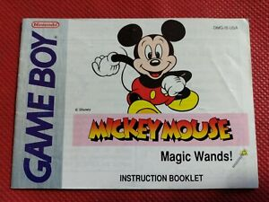 Mickey-Mouse-Magic-Wands-Gameboy-Instruction-Manual-Booklet-Nintendo-NO-Game