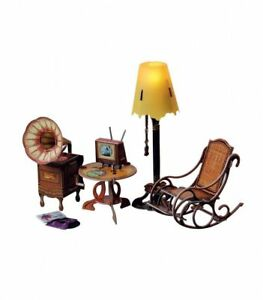 Floor Lamp &Amp; Home Decor Dollhouse Furniture Dolls Miniatures Cardboard Model Kit by Clever Paper