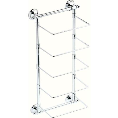 Delta 5-Bar Wall-Mounted Towel Rack in Polished Chrome