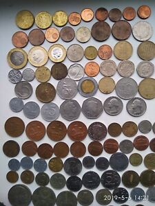 Set-Of-100-Coins-From-World-Wide-Different-Countries-Coins-LOT-100-COINS