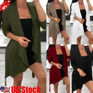 Womens-Long-Sleeve-Front-Open-Casual-Blazer-Suit-Jacket-Coat-Outwear-Cardigan-US