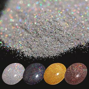 7g-Holographic-Laser-Glitter-Puder-Nagel-Schimmer-Gold-Silber-Schwarz-Kaffee-DIY