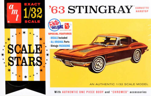 1963 Chevy Corvette Stingray Hardtop 1:32 AMT Model Kit Bausatz AMT1112