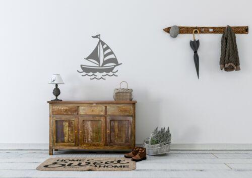 Sail Boat Inspired Design Seaside Sea Home Decor Wall Art Decal Vinyl Sticker
