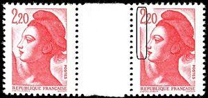 TIMBRE-VARIETES-LIBERTE-2-20-ROUGE-N-Yvert-2376-L44S