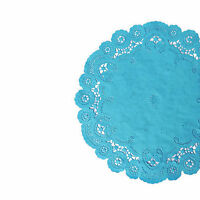 Malibu Teal French Lace Paper Doilies | 6 8 10 | Teal Blue Paper Doily