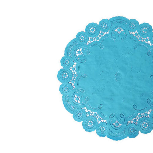 "MALIBU TEAL French Lace Paper Doilies6/"" 8/"" 10/""Teal Blue Paper Doily"
