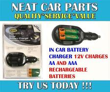 En coche cargador de batería de 12 acusaciones Aa & Aaa Recargable Pilas Solo!!!