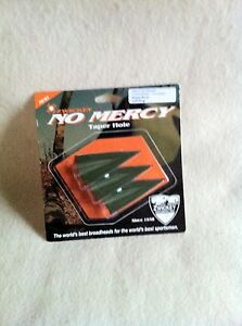 Zwickey-NO-MERCY-Broadhead-Single-Bevel-LEFT-Wing-NEW-Glue-on-Traditional-BH