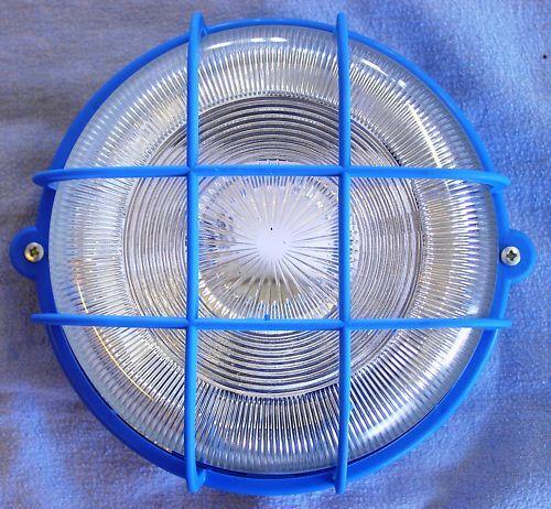 Aussenleuchte Rundleuchte blau 75W 220 mm 230 V