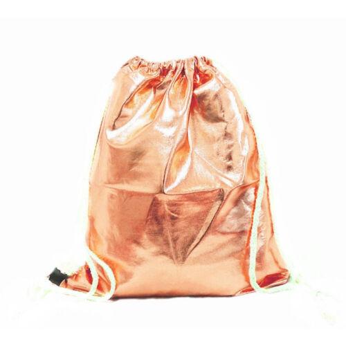 Sportbeutel Turnbeutel Hipster Gym Bag Rosegolg Metallic NEU /& OVP