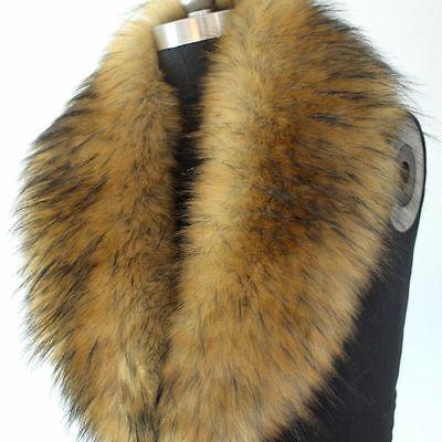 UNISEX Women Winter Faux raccoon fur scarves Imitation fur scarf shawl collar