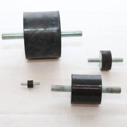 Gummi Metall Puffer Silentblock Dämpfer Gummipuffer Typ A 40x20mm M8 1 Stück