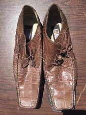 Mauri Alligator Men Shoes Cocoa Brown Size 12 Medium